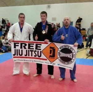 Heavyweight Lee taking home the Gold Medal for the Crawley Martial Arts Academy