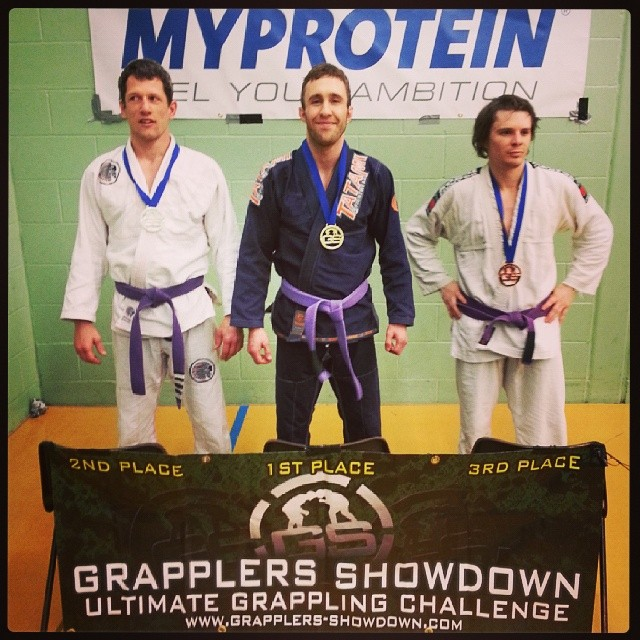 Sam Hewitt winning BJJ Gold at Grapplers Showdown