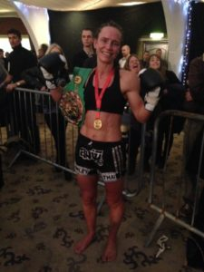 WBC World Champion at 55.3kg Ruth Ashdown fighting out of Lumpini Muay Thai Crawley