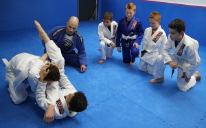 Learning a new technique under instructor Keith McKenzie