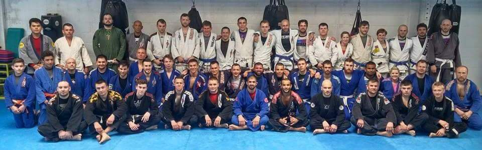 The BJJ Team during a Seminar at the Gym in Crawley