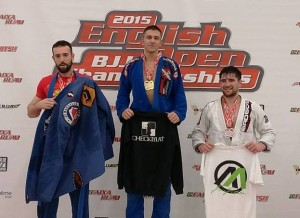 George Kolarov winning gold at the English Open in Dartford